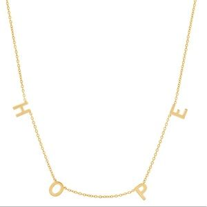 BYCHARI Hope necklace, gold plated sterling silver